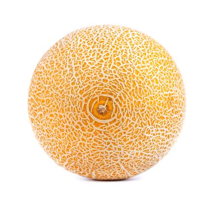 Cantaloupe melon isolated on white background. Juicy and sweet cantaloupe melon isolated on white background 版權商用圖片