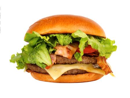 Fresh tasty burger, isolated on white background