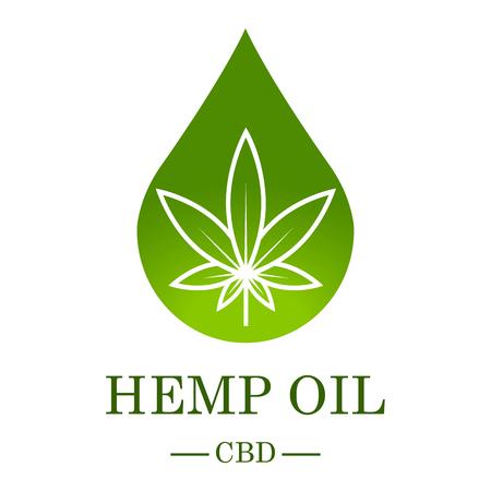 Feuille de cannabis. Cannabis médical. L'huile de chanvre. Extrait de cannabis. Étiquette de produit d'icône et modèle graphique d'icône. Illustration vectorielle isolée.