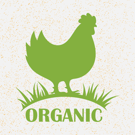 Premium chicken emblem. Labels, badges and design elements. Retro organic style. Vector Illustration.