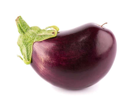 Eggplant isolated on white background. Fresh eggplant or aubergine vegetable