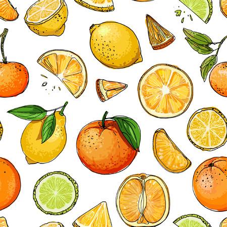 Lemons, oranges, mandarin, pomelo, lime