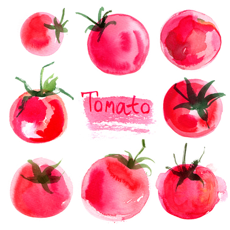Set tomatoes drawn Mr. Abel background