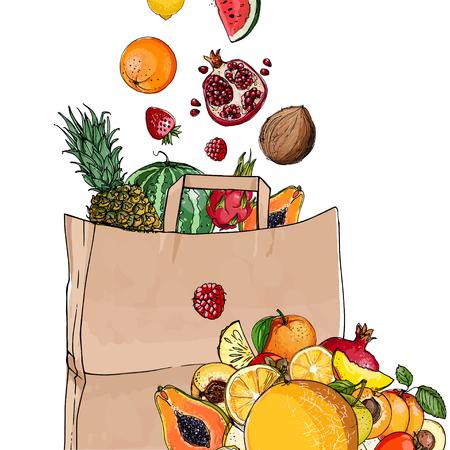 Fruit in a paper bag