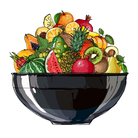 Fruit in a bowl Stockfoto - 102055973
