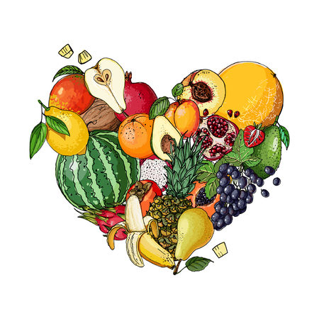 Heart of fruit
