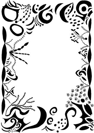 gothic swirls and scrolls border with word wisdom Stock Photo - 499409