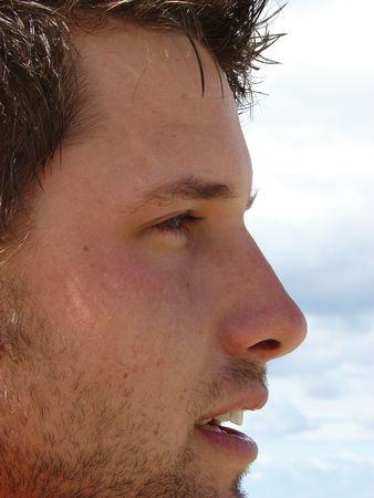 young male model: A los varones modelo en la playa  Foto de archivo