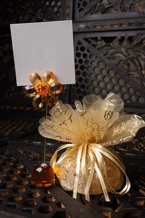 favour: Wedding Favour gift with a name place holder