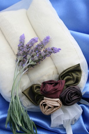 Scented room sachets in a decorated organza bag photo