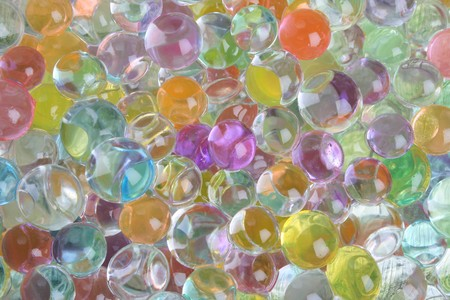 gelatine: A variety of colored gelatine balls as a background Stock Photo