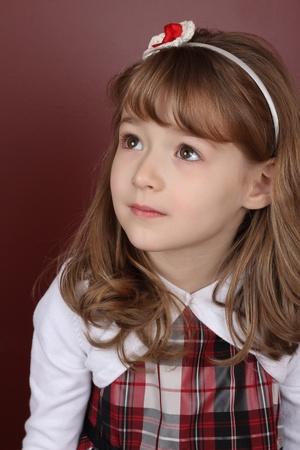 Beautiful little girl wearing a head band