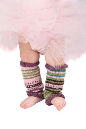 legwarmers: Baby girl wearing a tutu and legwarmers