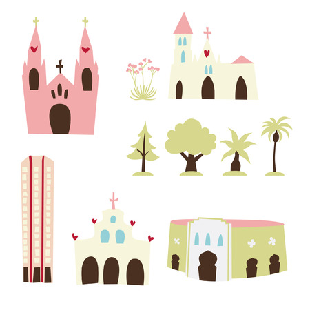 Various Buildings 2 Vector