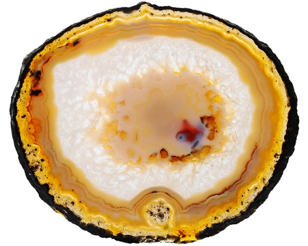 Agate on white background photo