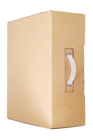 manipular: Caja de cart�n con asa