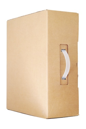 handle: Cardboard box with a handle