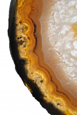 black onyx: Agate on white background