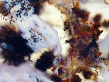 Jewelry and decorative stones  Moss Agate  Agata muschiata  Northern Hunger Steppe in Kazakhstan