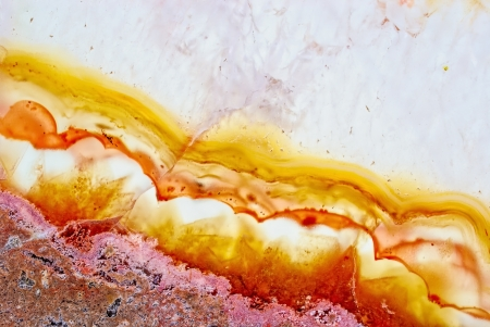 chalcedony: Natural brown agate macro. Kazakhstan Stock Photo