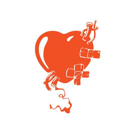 tragic: Realistic red heart