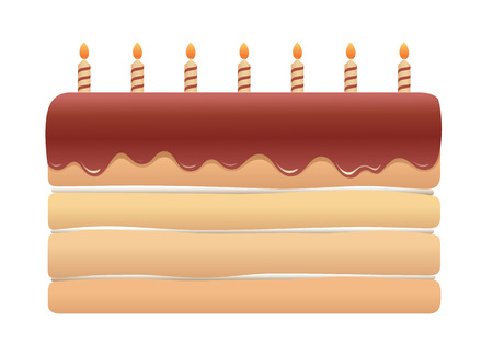 Cute Cartoon Seamless Pattern With Birthday Cakes And Candles