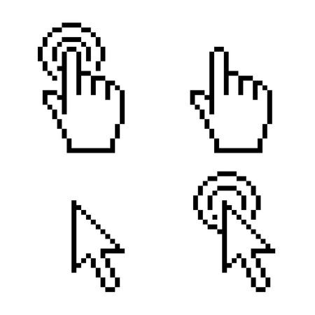 Cursor click pixel art