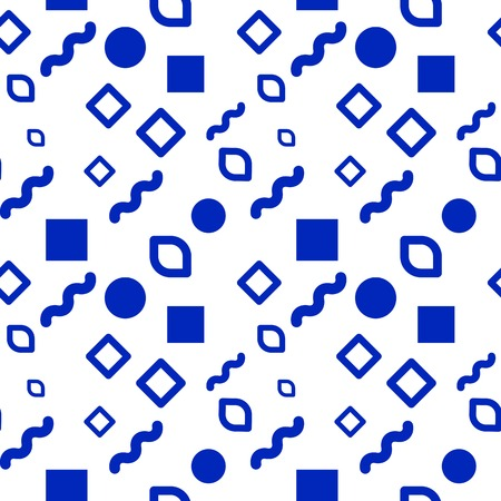 different shapes: Hipster seamless pattern of different shapes Illustration