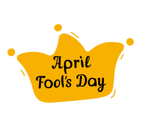 jester hat: April Fools Day design with jester hat and text