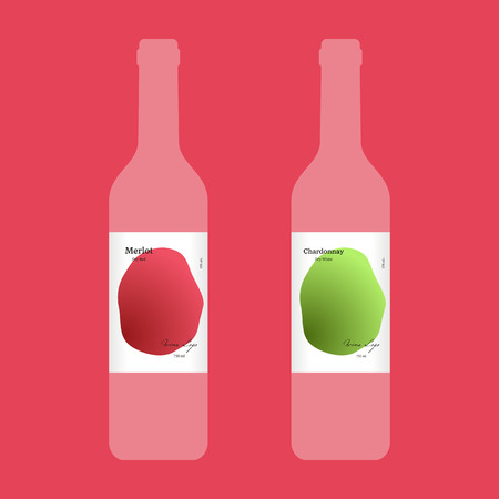 char: Wine label with modern design