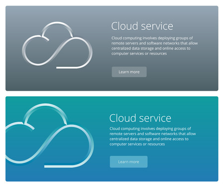 teaser: Cloud service concept web banner and promotion teaser