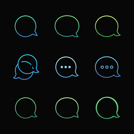 babble: Contour Talk bubble comment and message  icons set