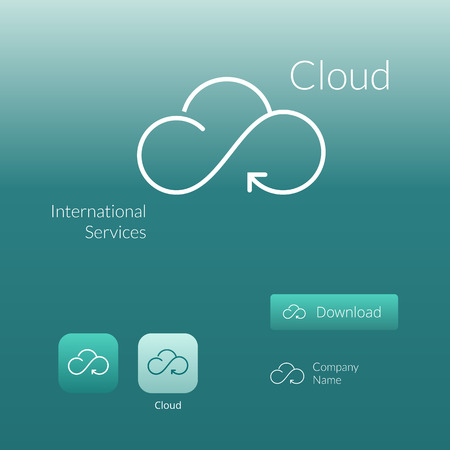 cloud: Cloud stylish  icon and button concept
