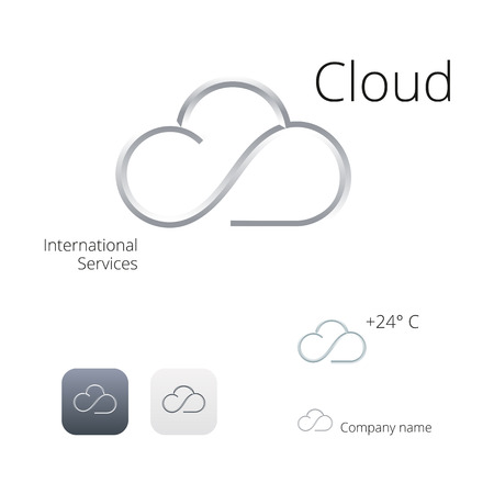 Cloud stylish and icons