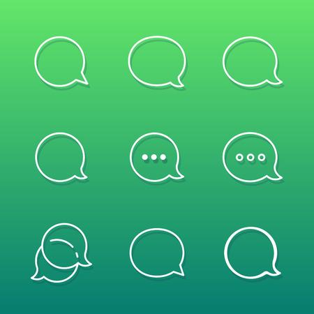 komentář: Contour Talk bublina komentář a zpráv ikony set