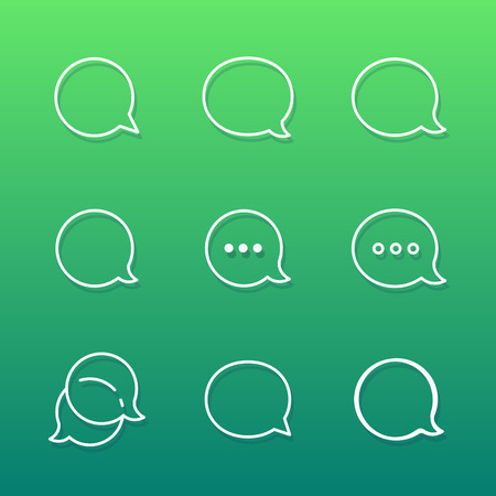 Contour Talk bubble comment and message  icons set