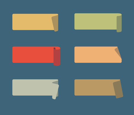 adhesive: Vector Set of Colored Adhesive Scotch Tapes Illustration