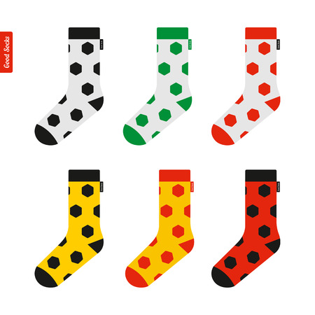cashmere: Set of Socks with Soccer Ball Pattern in Colors of the Flag of Germany