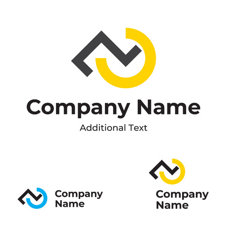 Modern Icon with Check Mark and Step Identity Brand  Concept Set