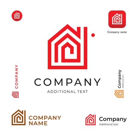 House Modern Logo Set Template Vector Ilustração
