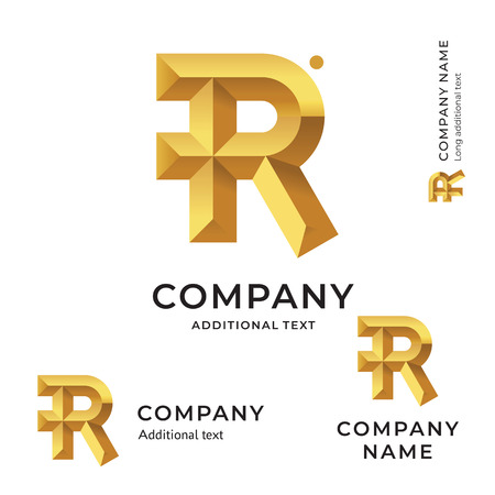 R Letter Modern Logo for Brand and App Icon  イラスト・ベクター素材