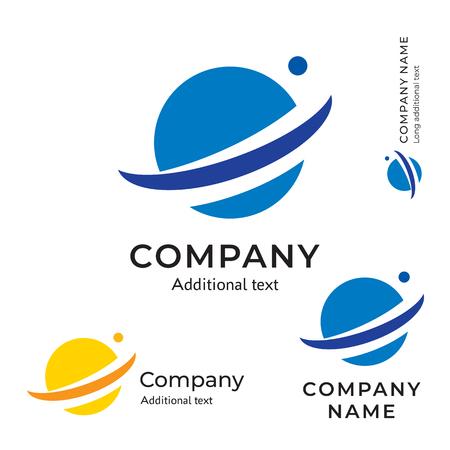Planet Abstract Logo vector illustration set