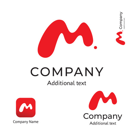 M Letter Abstract Technological Modern Logo Business Identity Brand and App Icon Symbol Concept Set Template Vector