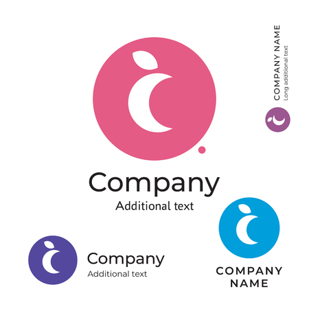 Moon Logo for Brand and App Icon  イラスト・ベクター素材