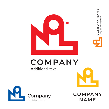 Factory abstract icon. Modern simple and clean identity brand icon commercial symbol concept set. Template vector illustration.  イラスト・ベクター素材