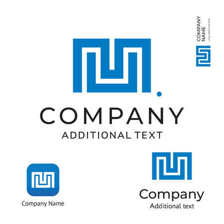 M Letter Technological Modern Logo for Brand and App Icon