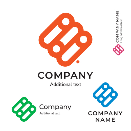 Switch icon technological social network. Abstract modern business identity brand icon symbol concept set. Template vector illustration.