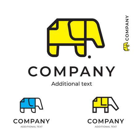 Elephant of Paper Simple Logo for Brand and App Icon