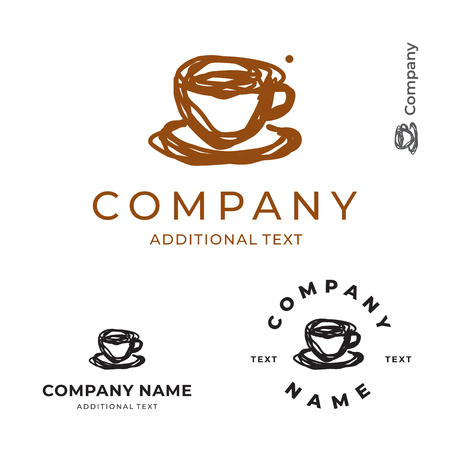 Cup of coffee or Tea Logo for brand Stock Illustratie