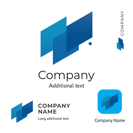 Abstract Technological Logo Design Modern Clean Identity Brand and App Icon Commercial Symbol Concept Set Template Vector  イラスト・ベクター素材